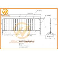 Wholesale Portable Temporary Safety Fence Galvanized Bridge Feet Metal Crowd Control Barrier from china suppliers