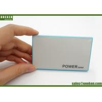 Wholesale 2000mah Ultra Slim Power Bank White / Blue Credit Card Portable Charger from china suppliers