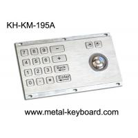 Wholesale Metallic Anti - vandal Kiosk Digital Keyboard with Integrated Trackball IP65 Rate from china suppliers