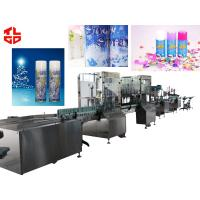 Wholesale High Speed Aerosol Can Filling Machine For Snow Spray / Party String Bottle from china suppliers