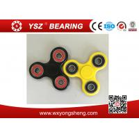 Wholesale Black / Yellow Hand Spinner Fidget Toy / Tri Spinner With 608 Bearings from china suppliers