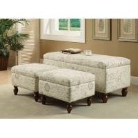 Wholesale Round Legs Upholstered Bench Seat , Bedroom Ottoman Storage BenchWith COM from china suppliers