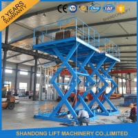 Wholesale 3T 5M Warehouse Cargo Lift Material Loading Hydraulic Scissor Lift Platform from china suppliers