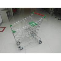 Wholesale Professional 125L Supermarket Shopping Trolley With Wire Mesh Base Grid , ROHS from china suppliers