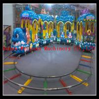 Quality new model 5 couches 18 seats  electric track train, under sea world train ride for sale for sale