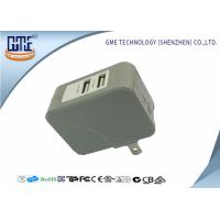 Wholesale Gray Foldable 15w Micro Usb Power Adapter , Smart Dual Usb Phone Charger from china suppliers