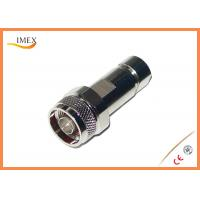 Buy cheap 50ohm Straight Clamp N Type RF Connector for 1/4
