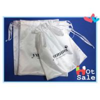 Buy cheap Insulation And Flexible Well White Fabric Satin Dawstring Bag , Silk Bags For Gift from wholesalers