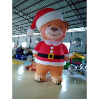 Wholesale Eight Feet Stitching Oxford Custom Inflatable Products Inflatable Brown Bear With Led Color Light from china suppliers