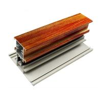 Wholesale T Shape Wood Finish Aluminium Profiles Length Customized For Glass Doors from china suppliers