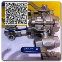 "Wholesale Stainless steel panel mounted straight 1/4"" npt ball valve from china suppliers"