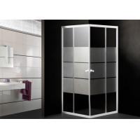 Wholesale Toughened Glass Corner Shower Enclosure Small Bathroom Stripes Pattern 0.092CBM from china suppliers