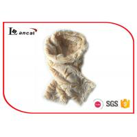Wholesale Yellow Crinkle Pattern Faux Fur Cowl Scarf Durable Fox Fur Infinity Scarf  from china suppliers