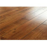 Quality Eco Indoor Distressed Wood Laminate Flooring ,  Recycle Hardwood Floor Covering for sale