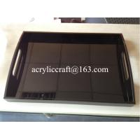 Wholesale Oblong acrylic serving tray / lucite hotel tray / plexiglass  serving tray for drink from china suppliers