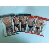 Wholesale Underwear Packaging Bag Plastic Sacks , Large Resealable Plastic Bags For Clothes from china suppliers