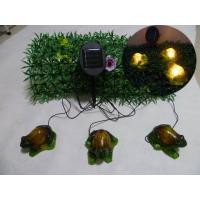 Wholesale Set of 3(2Big and 1Small)Green Frogs With Solar Light from china suppliers