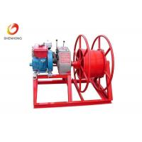Wholesale HONDA Gasoline Gas Engine Powered Winch , Cable Pulling Winch In Red Color from china suppliers