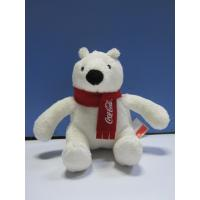 Wholesale 12cm Christmas Coca Cola Polar Bear Stuffed Animal Cute Push Keychain from china suppliers