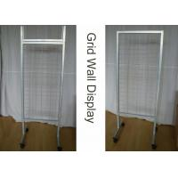 Wholesale OEM Wire Metal Grid Display Rack  / Supmarket Two Sides Iron Display Stand from china suppliers