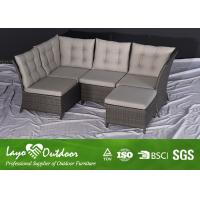 Quality 5 PCS Alum Sofa Sets Outdoor Patio Seating Sets Patio Wicker Furniture OEM for sale
