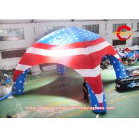Wholesale 8mdia USA  FLAG   inflatable spider/ dome tent from china suppliers