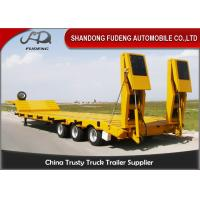 Wholesale 120ton Loading Capacity Low Bed Semi Trailer Of 15000 Mm Overall Length For Heavy Machinery Transport from china suppliers