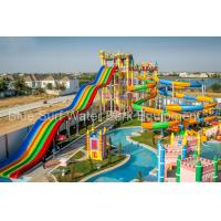 Wholesale Cambodia 15,000 M2 Family  Fiberglass Water Slide Water Palyground Water Park Slide from china suppliers
