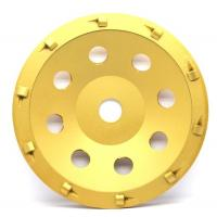 China 5& 7 PCD Diamond grinding Wheel with quarter size PCD segments For Concrete Floor Coatings Removing on sale