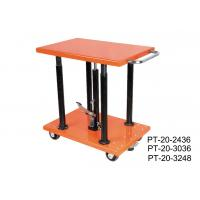 Wholesale Stationary Manual Post Lift Table Movable With Long Lasting Hydraulic Pump from china suppliers