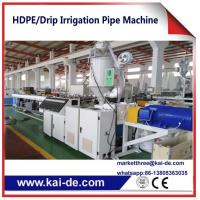 Quality PE drip irrigation pipe extrusion Machinery KAIDE factory for sale