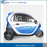 3 wheel Adult Electric tricycle with passenger seat with EEC voltage 48-60v