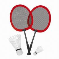 Wholesale Small Cloth Badminton Racket Toy, with Red and Orange Racket Color from china suppliers