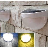 Wholesale Solar Power Panel 6 LED Fence Gutter Light Outdoor Garden Wall Lobby Pathway Bulb Lamp White and Warm White from china suppliers