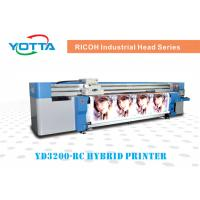 Quality uv hybrid printer for wallpaper,leather,advertising cothe,car sticker for sale
