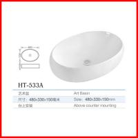 Buy cheap china used bathroom vanity cabinets oval shape wash basin for sale from wholesalers
