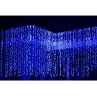 Quality Top View 230v fairy outdoor christmas lighting curtain for garden for sale