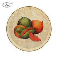 Wholesale China Custom Bamboo & Wooden Printed Round Plate for Houseware from china suppliers
