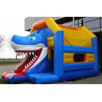 Wholesale Aframe Shark Blue Inflatable Combo Jumping Bouncer For Funny from china suppliers