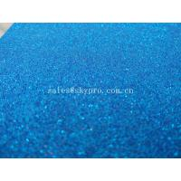 China Flexible EVA Foam Rubber Sheets 1mm Thickness Blue Self - Adhesive Glitter on sale