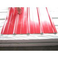 Buy cheap High Strength Steel Plate Metal Roofing Sheets With 40 - 275G / M2 Zinc Coating from wholesalers