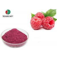 China Light Red Natural Raspberry Fruit Powder / Fruit Extract Powder 5471-51-2 on sale