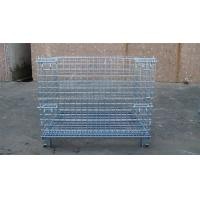 Wholesale Heavy Weight Loading Wire Container Storage Cages Galvanized Welded Storage Cage from china suppliers