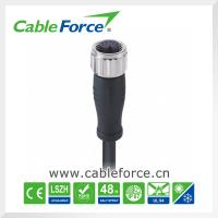 Wholesale IP67 M12 12pin female A-Coding circular cable connector with PUR cable metal screw from china suppliers