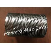 Quality Round Hole Perforated SS 316 / 304 Carbon Steel Spiral Welded Tube Galvanized for sale