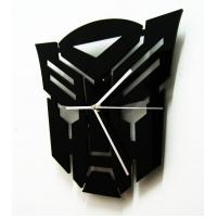 Wholesale SH-11 Square Black Fashion Mask Design Contemporary Art Acrylic Wall Clocks from china suppliers