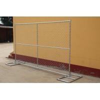 Wholesale wholesale galvanized temporary chain link fencing with cross brace from china suppliers