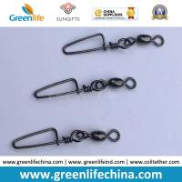 Wholesale Standard Black Rolling Swivel with Good Quality Snap Carp Fishing Swivel Connectors from china suppliers