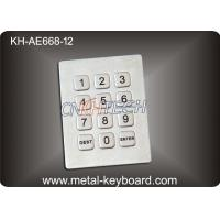 Wholesale 3x4 Matrix 12 Keys Kiosk Keypad / Rugged Stainless Steel Access Keypad from china suppliers