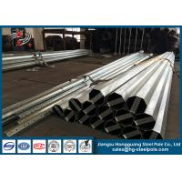 Wholesale Octagonal Steel Street Lighting Pole , Tubular Electrical Utility Poles Anti Rust from china suppliers